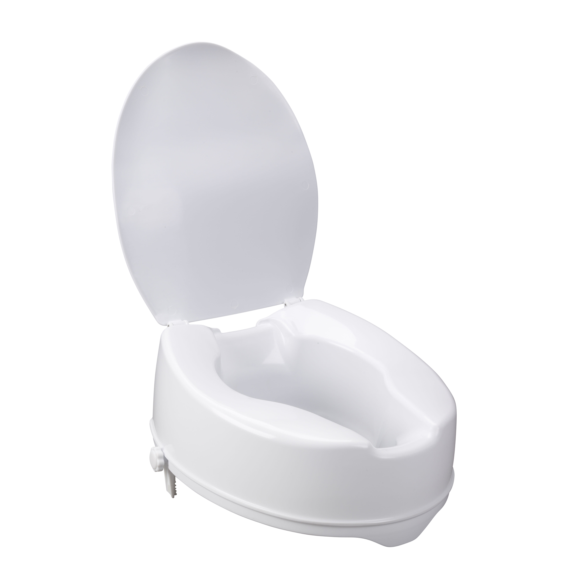 Fine Raised Toilet Seat With Lock And Lid Standard Seat 6 Dailytribune Chair Design For Home Dailytribuneorg